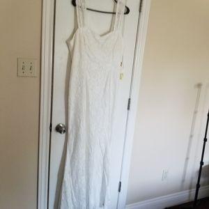 NWT Sears Plus long lace dress
